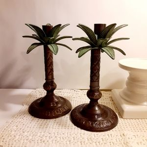 💥Host Pick💥💥Tropical Palm Tree Candle Holders
